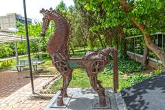 Horse sculpture Stock Images