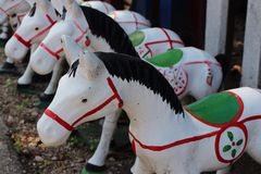 Horse sculpture, Thai style. Stock Images