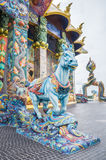 Horse sculpture was decorated with glazed tile Stock Photography