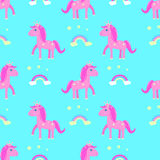 Horse seamless pattern children`s   crown Royalty Free Stock Photos