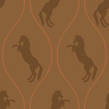 Horse seamless pattern Stock Images
