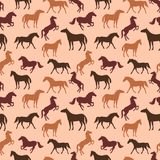 Horse seamless pattern Royalty Free Stock Images
