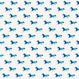 Horse seamless pattern, triangle horse. Abstract horse of geomet Stock Photo
