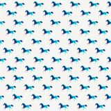 Horse seamless pattern. Vector. Vector triangle horse. Abstract Stock Photography