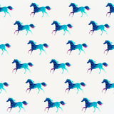 Horse seamless pattern. Vector. Vector triangle horse. Abstract Royalty Free Stock Image