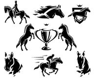 Horse set. Vector Royalty Free Stock Image