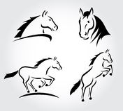 Horse set. Vector Stock Photography