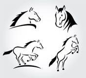 Horse set. Vector Stock Photography