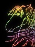 Horse shaped dots Royalty Free Stock Photo