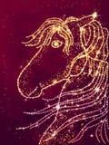 Horse shaped dots Royalty Free Stock Image