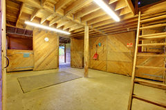 Horse shed interior Royalty Free Stock Image