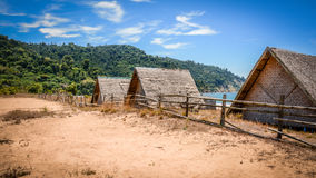 Horse Shoe Beach, at the shore of Andaman Sea, Tanintharyi Region, southern Myanmar, april-2017 Stock Photos
