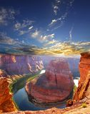Horse shoe bend. Attraction at Page Arizona Royalty Free Stock Photo