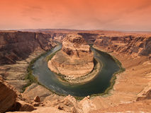 Horse Shoe Bend. At Utah, USA Stock Images