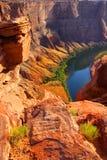 Horse shoe bend. National monument in Arizona Stock Photos