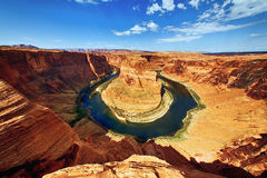 The Horse Shoe Bend. At Utah, USA Royalty Free Stock Photo