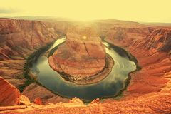Horse Shoe Bend Royalty Free Stock Images