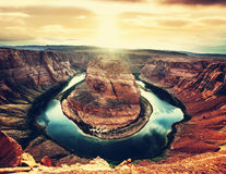 Horse Shoe Bend Royalty Free Stock Photography