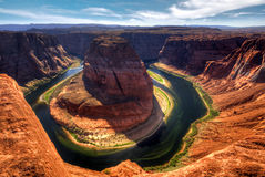 Horse Shoe Bend, Arizona USA. Magnificent Horse shoe bend near the city of Page, Arizona / Utah. The Grand Canyon heritage Stock Photography