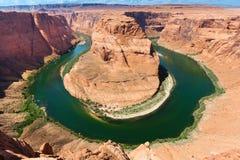 Horse Shoe Bend of Colorado River. Colorado river bends around Page, AZ Royalty Free Stock Photo