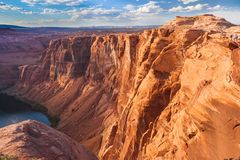 Horse Shoe Bend of Colorado River near Page Arizona USA Royalty Free Stock Photos