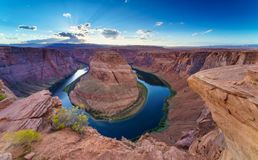 Horse Shoe Bend, Colorado River in Page, Arizona USA Royalty Free Stock Images