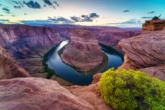 Horse Shoe Bend, Colorado River in Page, Arizona USA Royalty Free Stock Image