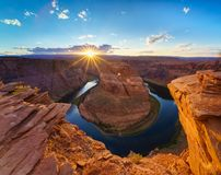 Horse Shoe Bend, Colorado River in Page, Arizona USA Stock Photography