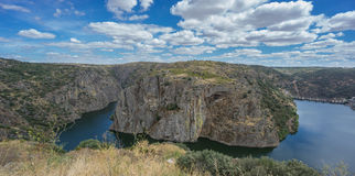 Horse Shoe Bend in Duero River, Portugal Royalty Free Stock Image