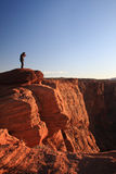 Horse Shoe Bend.Page. Landscape photographer taking pictures at sunset.Horse Shoe Bend.Page stock image