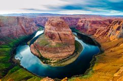 Horse shoe bend in Page Arizona royalty free stock photo