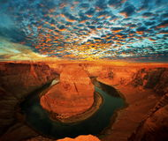 Horse shoe bend Stock Photography