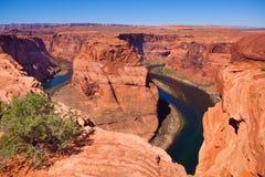 Horse shoe canyon Colorado river. Canyonlands National Park, USA during sunny summer day Royalty Free Stock Photos