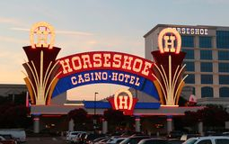 The Horse Shoe Casino Tunica, Robinsonville Mississippi. Tunica's hottest casino is the place where gamblers belong: Horseshoe Tunica Hotel & Casino, with stock photography