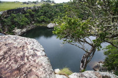 Horse Shoe Falls - Mkambati - Wild Coast. Mkambati - Wild Coast. Breathtaking Mkambati Nature Reserve covers 77 sq km with some spectacular waterfalls, the deep royalty free stock photography