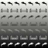 Horse and show jump background vector illustration