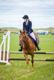 Horse Show Jumping Event. Gymkhana. Stock Images