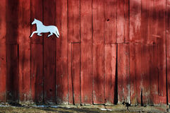 Horse on Side of Barn Stock Photography