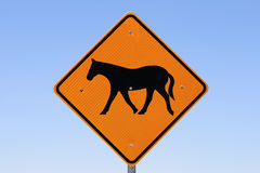 Horse sign Stock Photo