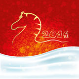Horse sign on red. Stock Images