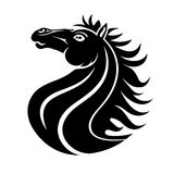 Horse sign on white. Royalty Free Stock Image
