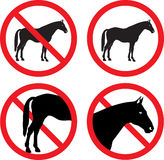 Horse signs Royalty Free Stock Photography
