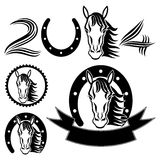 Horse signs on white. Stock Image