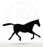 Horse silhouette. In Fast Trot position Royalty Free Stock Photo