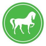 Horse silhouette icon Stock Image