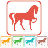 Horse silhouette icon Royalty Free Stock Images