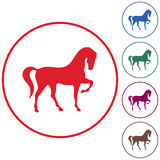 Horse silhouette icon Stock Photo