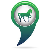 Horse silhouette icon. Vector illustration Royalty Free Stock Photos
