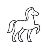 Horse silhouette outline Royalty Free Stock Image