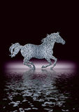 Horse Silhouette in silver Stock Photography